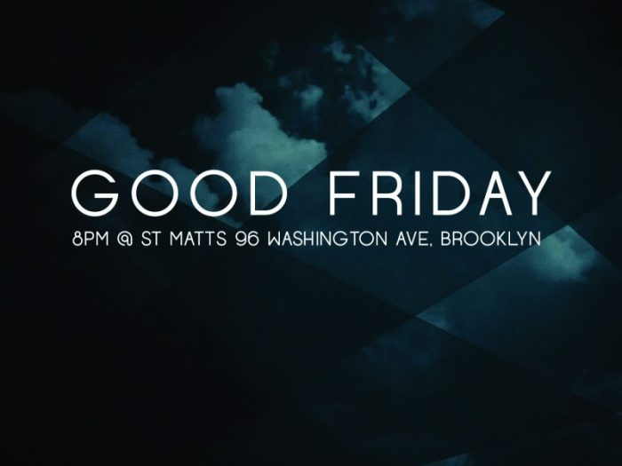 Good Friday Service2018
