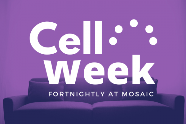 Cell week post enlarged text